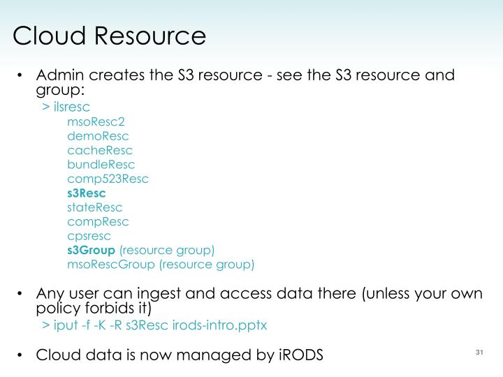 Cloud Resource