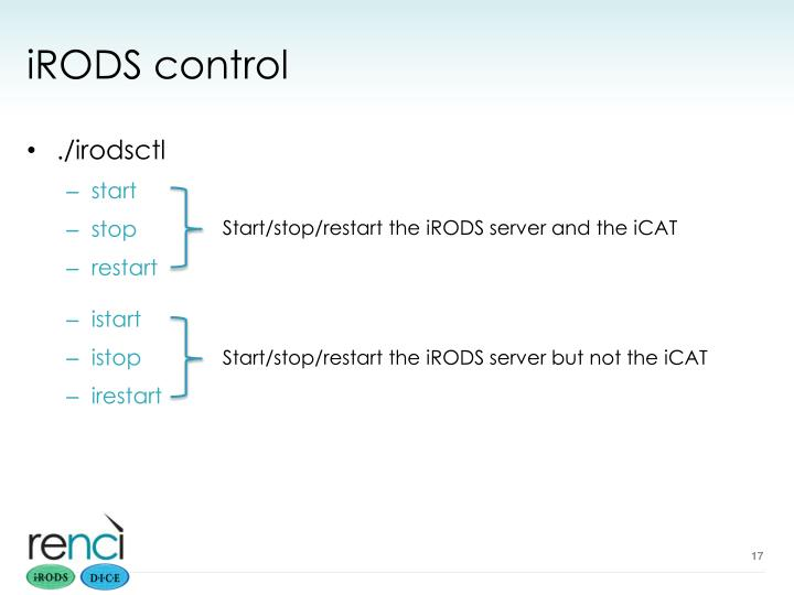 iRODS control