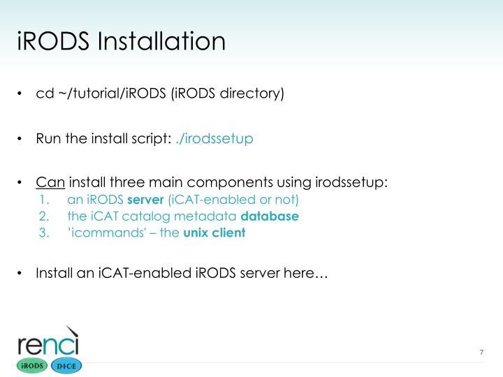 iRODS Installation