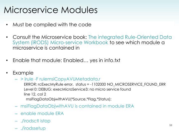 Microservice Modules