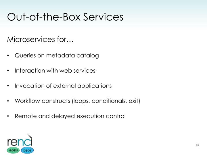 Out-of-the-Box Services