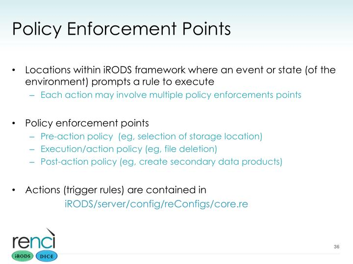 Policy Enforcement Points