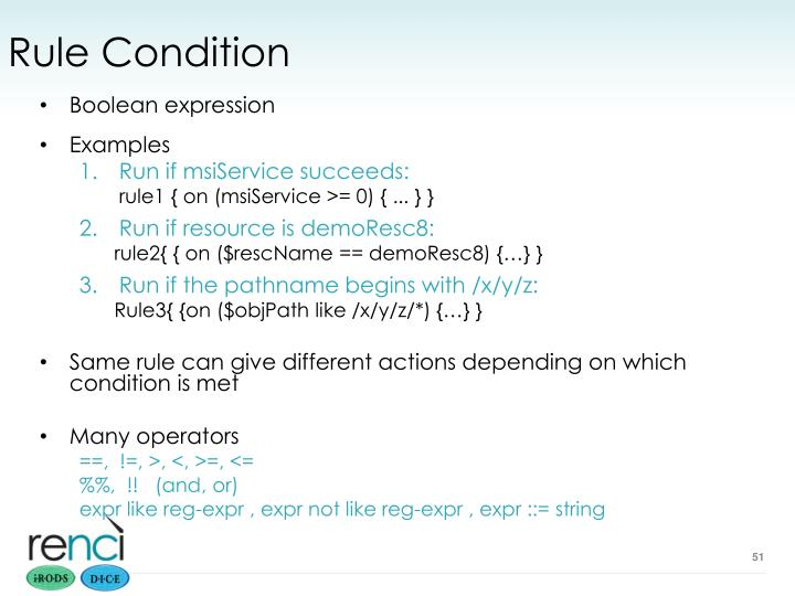 Rule Condition