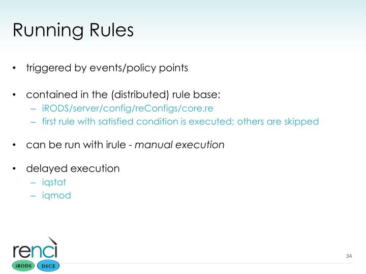 Running Rules