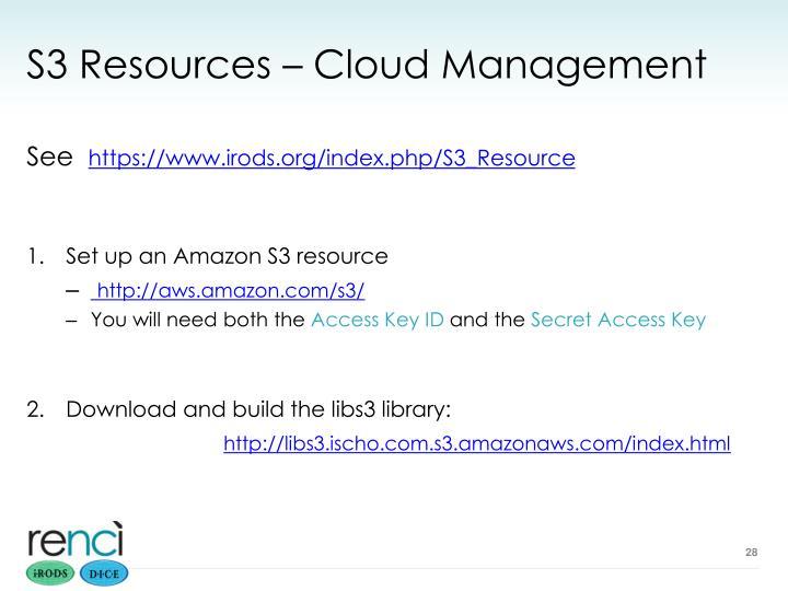 S3 Resources – Cloud Management