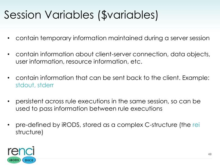 Session Variables ($variables)