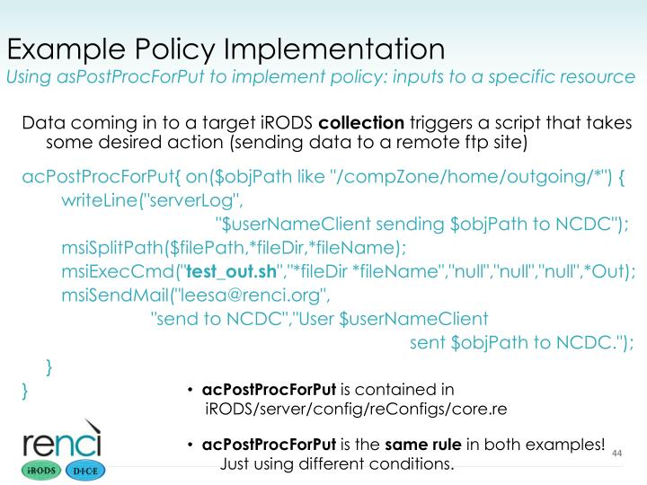 Example Policy Implementation