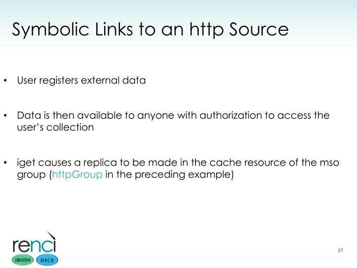 Symbolic Links to an http Source