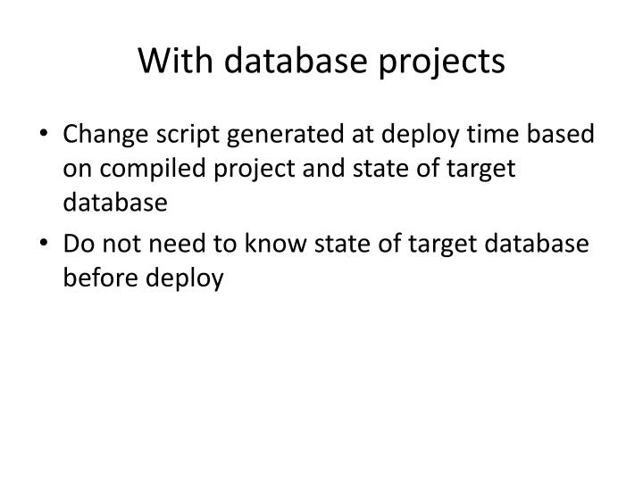 With database projects