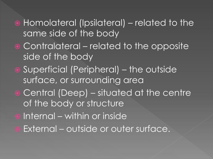 Homolateral