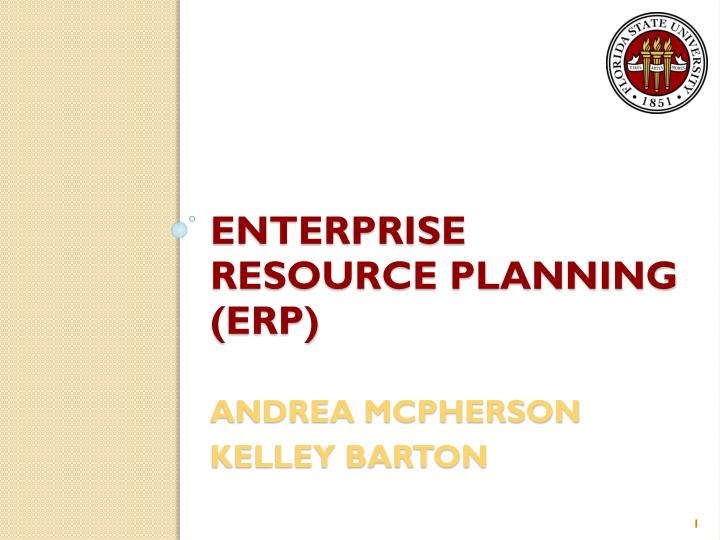 Enterprise resource planning erp andrea mcpherson kelley barton