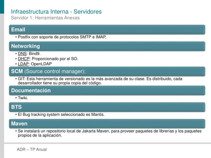 Infraestructura Interna - Servidores