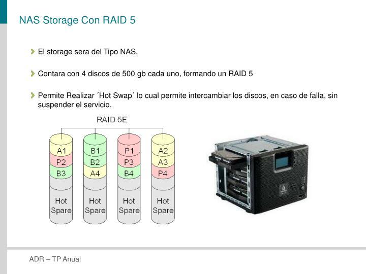 NAS Storage Con RAID 5