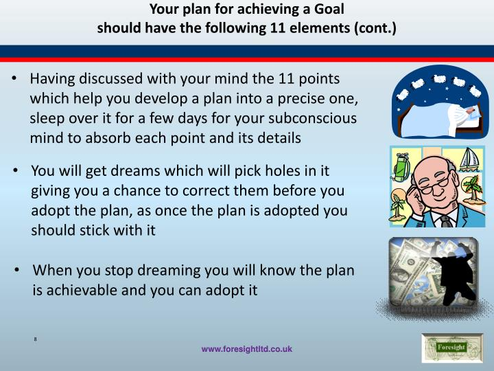 Your plan for achieving a Goal