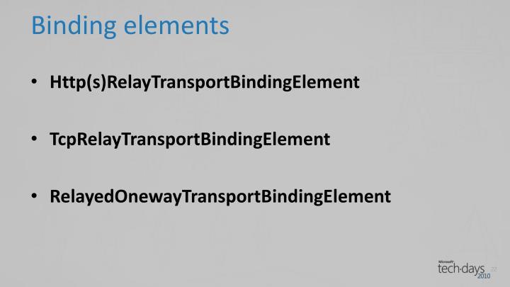 Binding elements