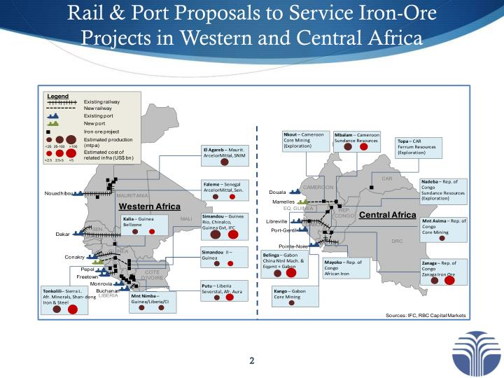 Rail port proposals to service iron ore projects in western and central afric a