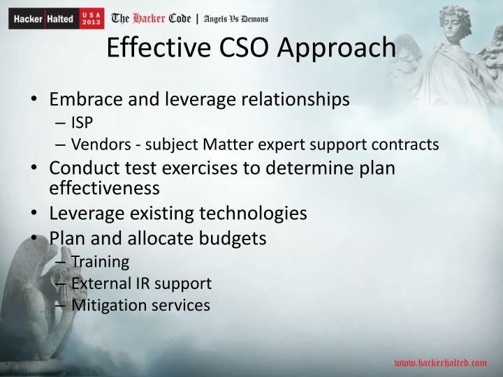 Effective CSO Approach