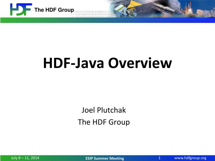 Hdf java overview