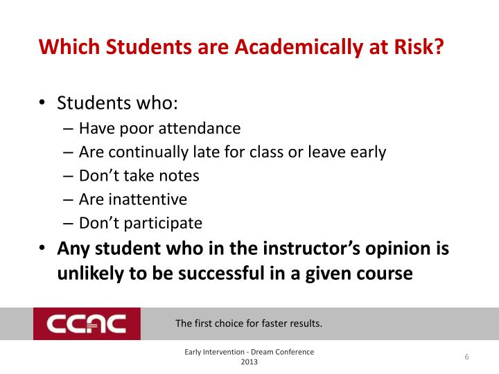 Which Students are Academically at Risk?