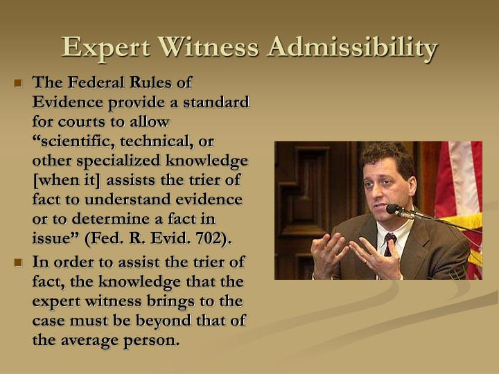 Expert Witness Admissibility