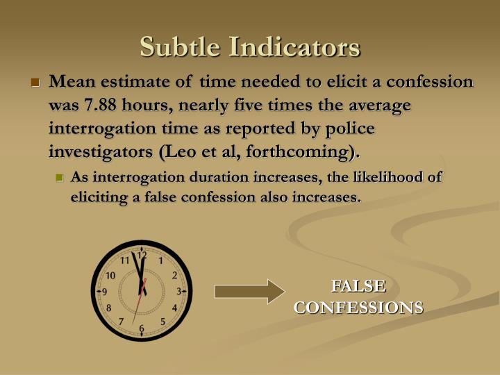 Subtle Indicators