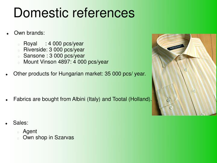 Domestic references