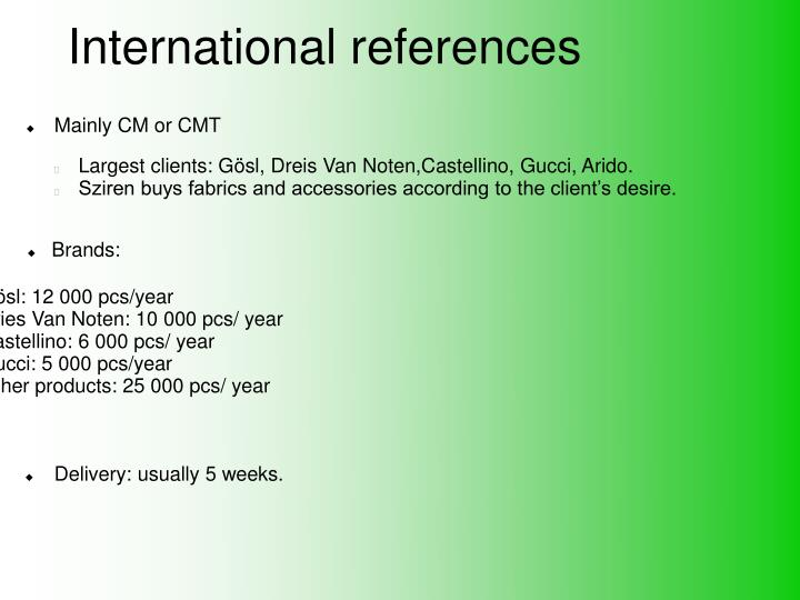 International references