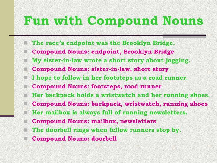 Fun with Compound Nouns