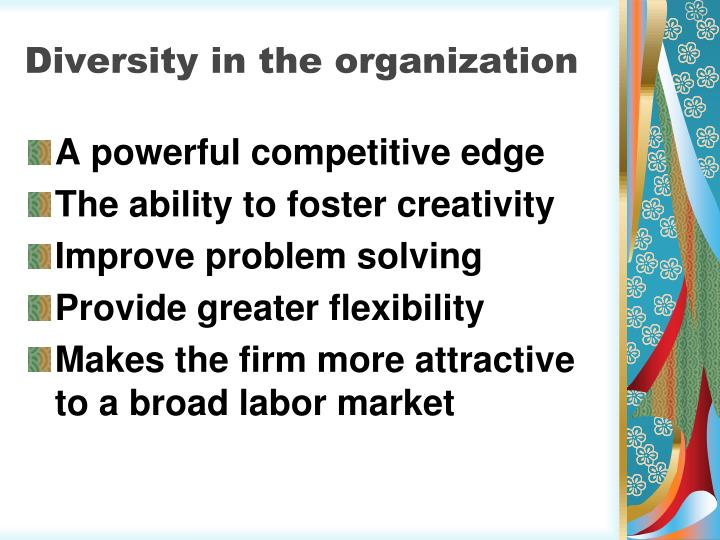Diversity in the organization