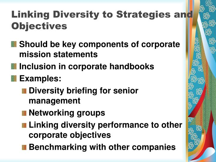 Linking Diversity to Strategies and Objectives