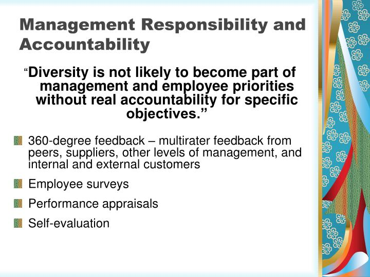 Management Responsibility and Accountability