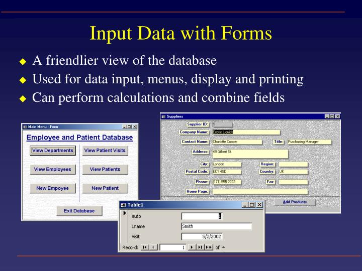 Input Data with Forms