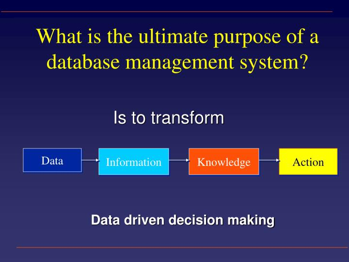 What is the ultimate purpose of a database management system?