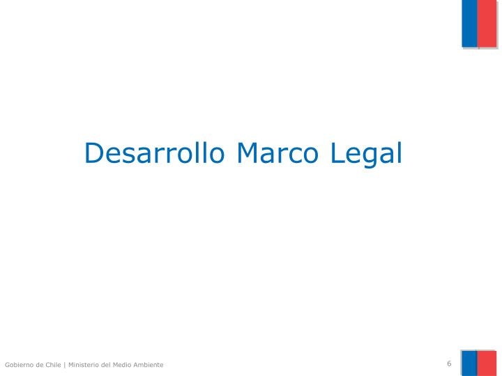 Desarrollo Marco Legal