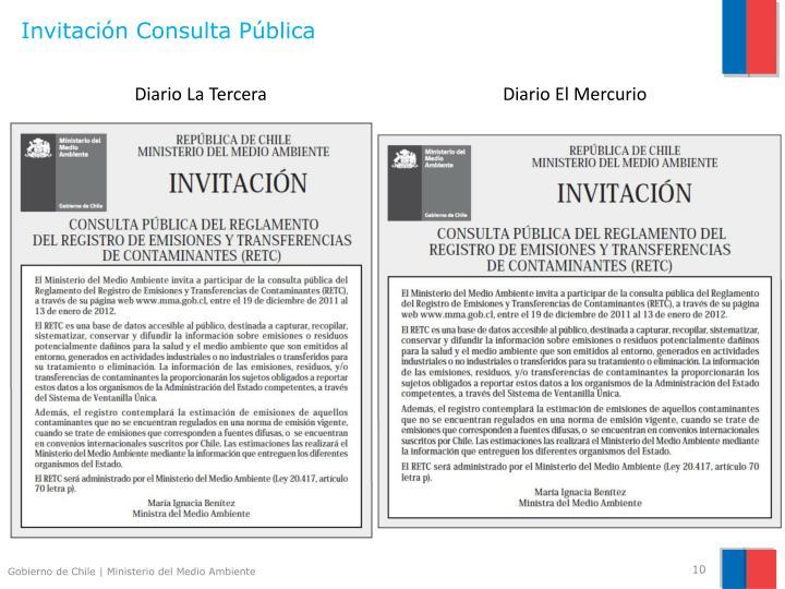Invitación Consulta Pública