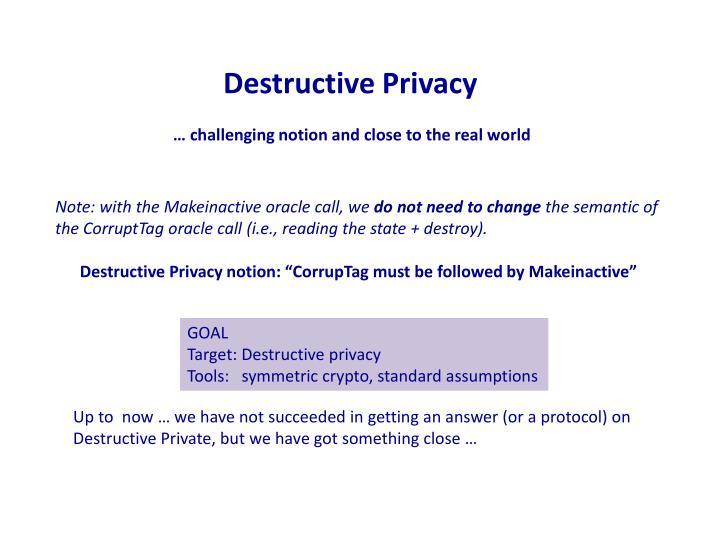 Destructive