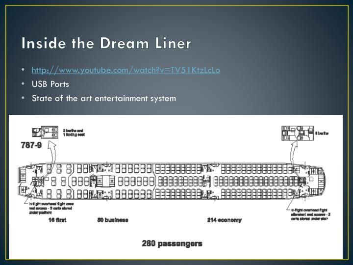 Inside the Dream Liner
