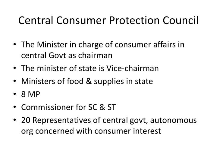 Central Consumer Protection Council
