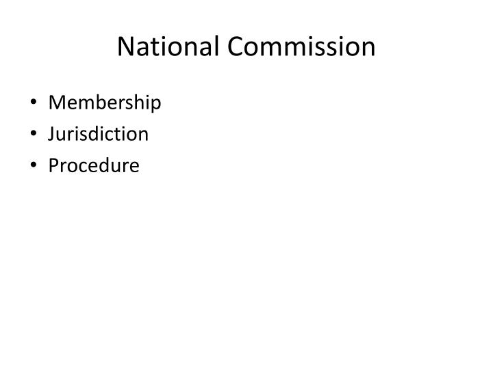 National Commission