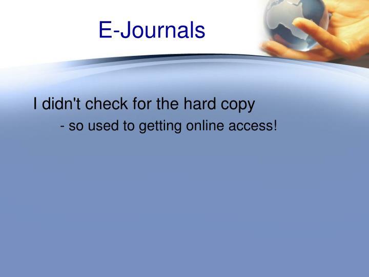 E-Journals