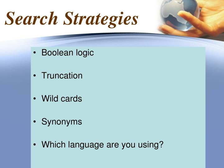 Search Strategies