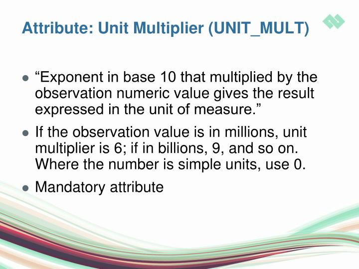 Attribute: Unit Multiplier (UNIT_MULT)