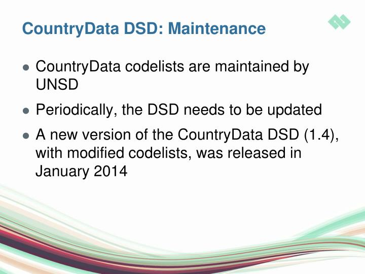 CountryData DSD: Maintenance