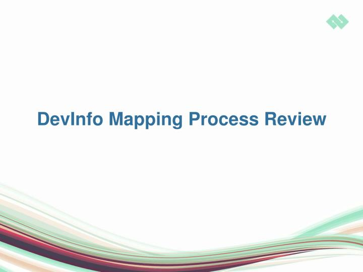 DevInfo Mapping Process Review