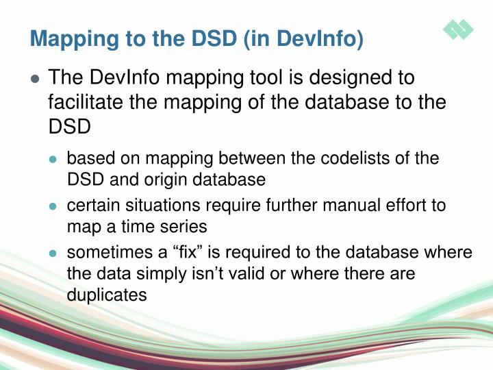 Mapping to the DSD (in DevInfo)