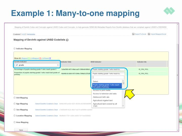 Example 1: Many-to-one mapping