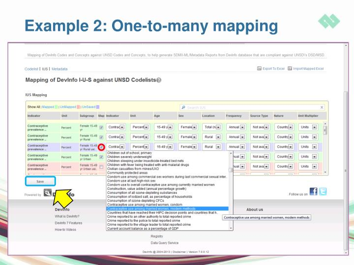 Example 2: One-to-many mapping