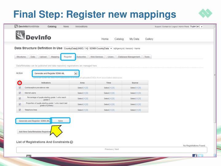 Final Step: Register