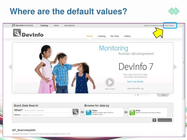 Where are the default values?