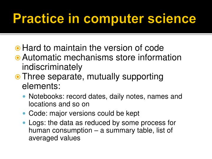 Practice in computer science